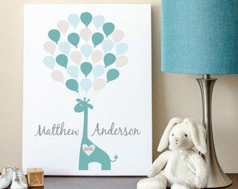 Baby Guest Book, Baby Shower Sign In, Giraffe Guest Book, Giraffe Baby