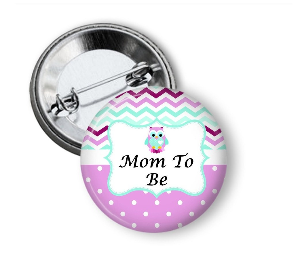 baby shower button mom to be button grandmom to be pin
