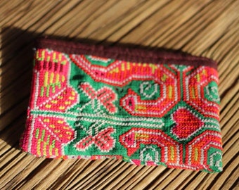 Antique Hand Embroidered Thai Hill Tribe Purse