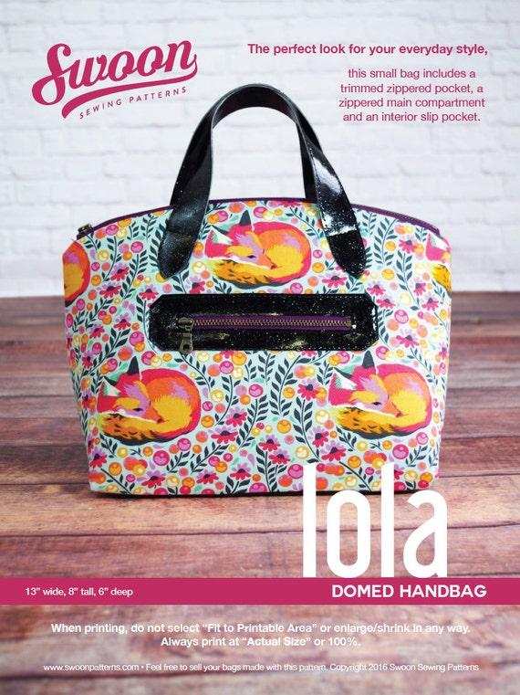 Swoon Patterns Lola Domed Handbag Pdf Vintage Purse Tote