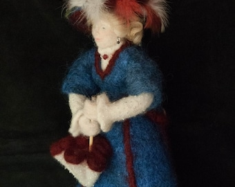 Lady Lydia, the Victorian lady, an original needle felted art doll