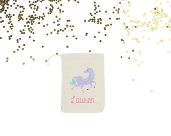 Unicorn {set of 10} Personalized Party Favor Bags