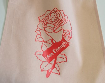 I Am Enough: Self Love Feminist Tote Bag