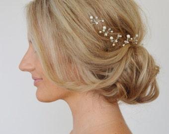 Art Deco Wedding Hair Pins,Swarovski Bridal Hair Pins,Wedding Hair Accessories, Pearl Crystal Bridal Hair Pins, Bridesmaid Hair Pins,