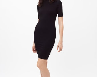 Black skivvy dress