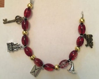 Harry Potter Bead Charm Bracelet