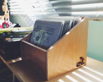 """Angular 7"""" Vinyl Record Box."""