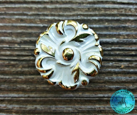 French Provincial Vintage Drawer Knobs Gold By MagicalBeansHome
