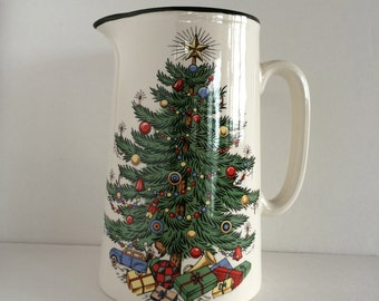 Cuthbertson Christmas Pitcher - England- Original Christmas Tree - Lovely Piece- Perfect for Holiday Table Setting