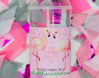 Flamingo Confetti Pop by Totally Pinnable