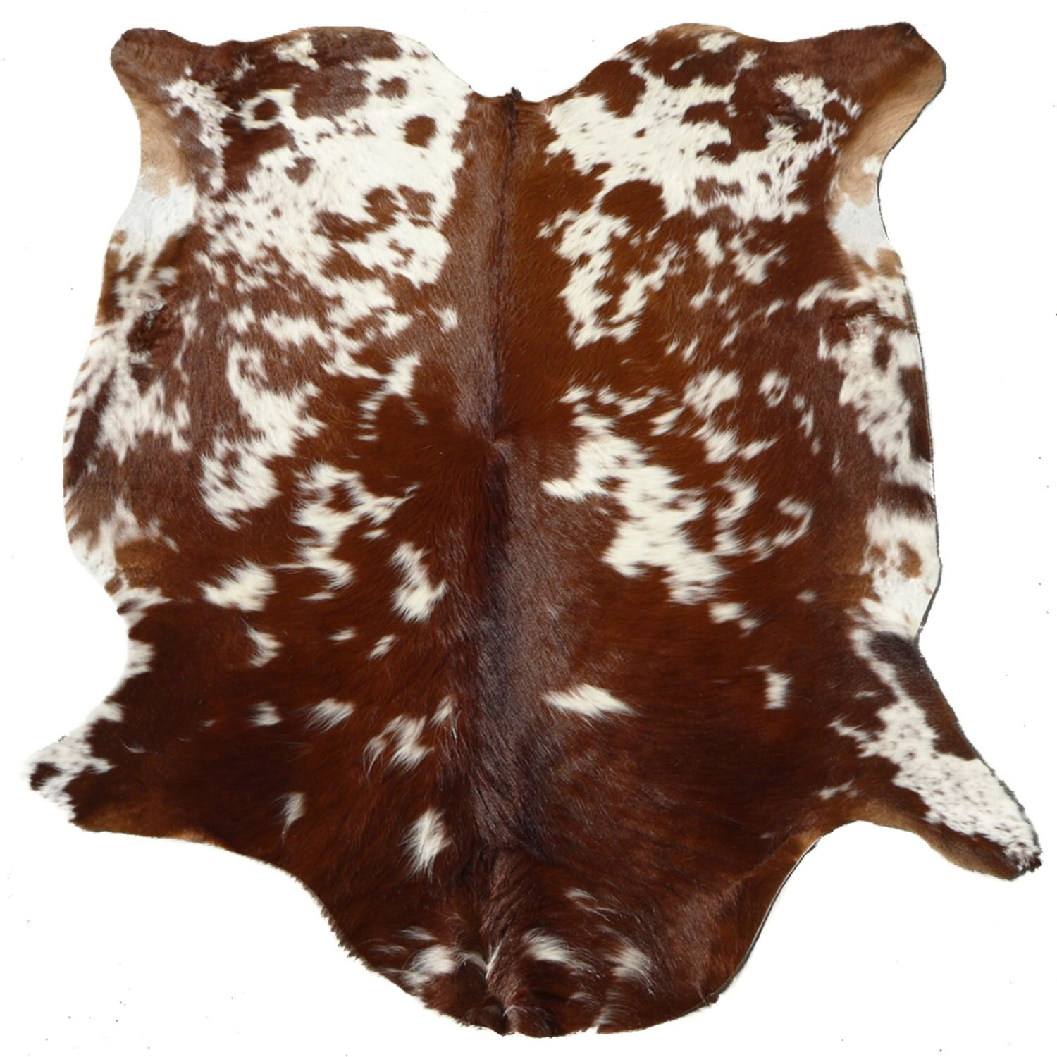 Cowhide Rug Cow Hide Leather Reddish Brown White