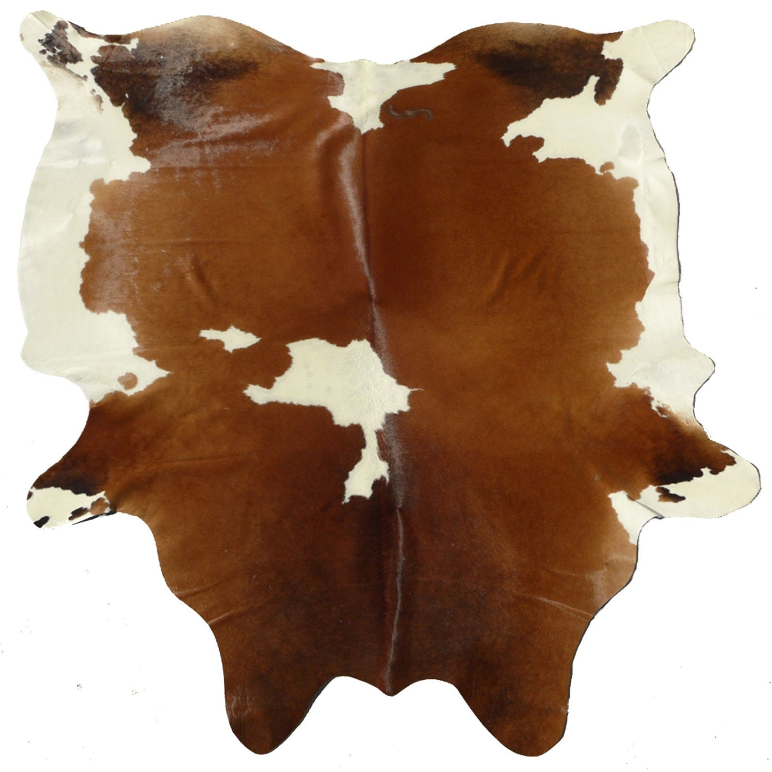 Cowhide Rug Cow Hide Leather Brown And White Brazilian
