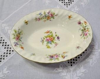 Vintage Minton Marlow Serving Bowl Pink Floral Design Made in England Panchosporch