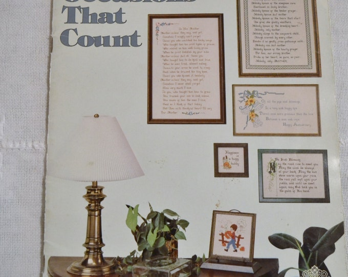 Occasions That Count Cross Stitch Embroidery Designs by Gloria and Pat 1977 Vintage Instructions DIY Panchosporch