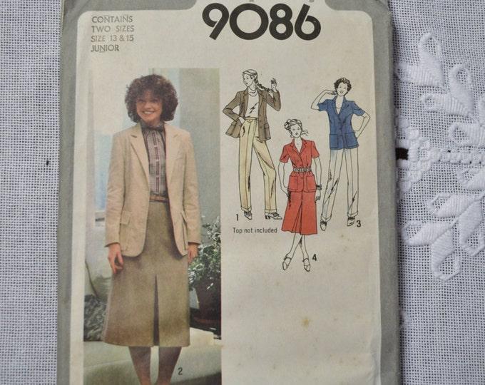 Simplicity Sewing Pattern 9086 Juniors Skirt Pants Jacket Size 13 15 Fashion Clothing DIY Sewing  PanchosPorch