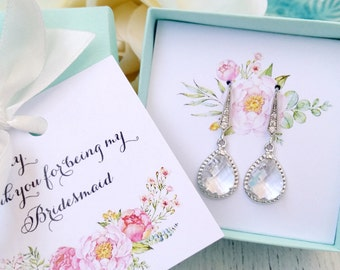 Bridesmaid jewelry, bridesmaid gift, Bridesmaid jewelry set, Bridesmaid earrings, Personalized gift, Will you be my bridesmaid