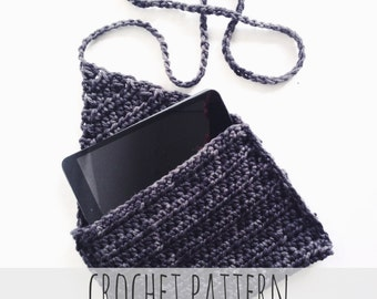 PATTERN for Crochet Tablet Case Journal Cover Ipad Flap Pocket // Entre-Nous Tablet Case PATTERN