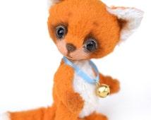 "Teddy fox Ricco 4.1"", artist teddy fox, handmade teddy, teddy fox, collectors toy, ooak, miniature fox"