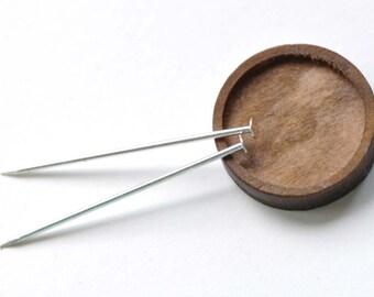 Silver Flat Headpins 38mm 18Gauge Set of 20 A8249