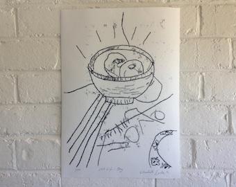 Mono Print - Still Life: Joy 1/10