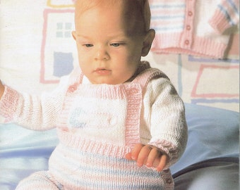 KNIT - Baby Sweater Knitting Pattern - Beehive Wee Wonders Baby Sweaters - Patons 478 - Vintage Sweater Pattern - Infant Sweaters