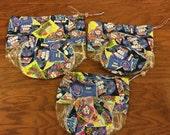 Clear Plastic Toy Storage Bag Set of 3, Candy Print Bags, Lego Storage Bags, Candy Toy Storage Bag, Toy Bag, Kid Toy Storage, Kids Room