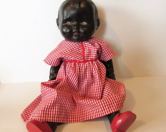 Large Beautiful Vintage T & C Composition Doll.