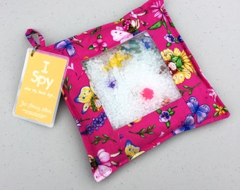 Pink fairy and flower sensory I Spy Pouch