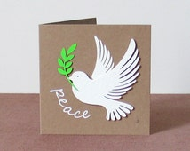 Dove of Peace, Peace, Dove, Eco-friendly, Eco Friendly, Square, Xmas Card, Recycled Paper, Xmas Cards, Card, Christmas Cards, Christmas Card