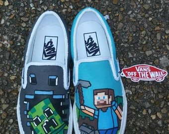 Handpainted Minecraft Shoes