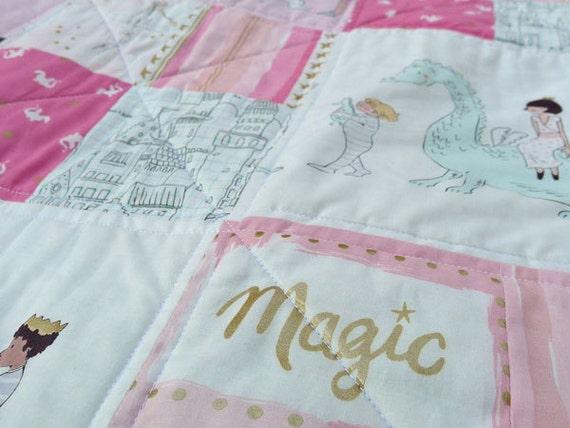 Magic Parade Quilt Pink Baby Quilt Throw Quilt Sarah