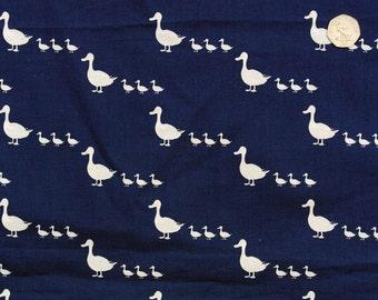 Duck print organic quilting cotton. Blue organic fabric. Animal print fabric. Children's fabric. CPF Duck. Sold by QUARTER METRE