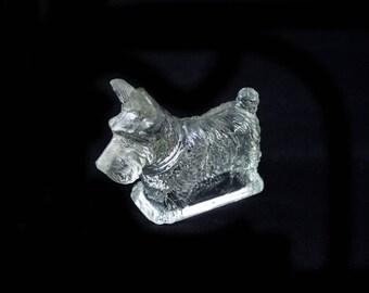 Vintage glass Scottie Dog Figurine