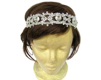 1920 Headpiece, Wedding Accessories, Great Gatsby Headpiece, Flapper Headband, Bridal Headpiece, 1940s Dress, Bachelorette Veil
