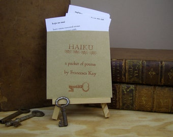 Haiku  poems. Handmade poetry packet. Small poetry gift. Haiku poetry
