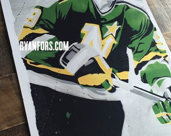 Mike Modano Minnesota Northstars - Print