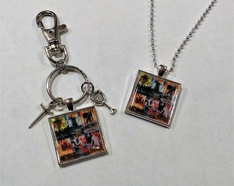 YOU PICK Young Adult Book Series Inspired Necklace or Backpack Clip/Purse Charm