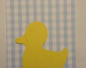 Baby duck gift tags for baby shower, set of 6