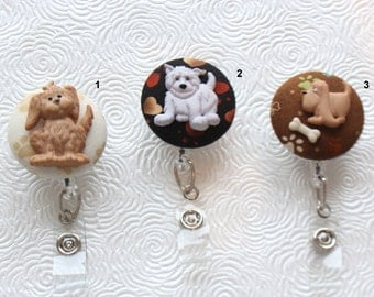 Puppies and Dogs ID Badge Reel/Nurse/Doctor/Medical/Teacher/School/Office/Puppy/Dog/Pet
