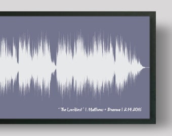 Wedding Song Art, Soundwave Art Print, First Dance Song, 1st Anniversary Gift for Him, for Her, Wedding Song Gift, Custom Sound Wave Print