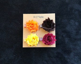 Shabby Flower Hair Clips, Petite Shabby Flower Hair Clips, Baby Girl Mini Flower Hair Clips, Toddler Hair Clips, Toddler Flower Clips