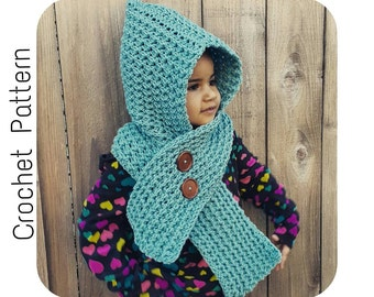 Crochet Scoodie PATTERN | Crochet Pattern Hooded Scarf | Child and Adult Size Icelandic Scoodie Pattern | PDF Digital Download