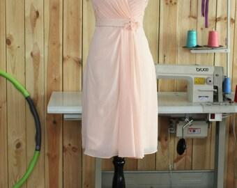 2015 Blush Bridesmaid Dress, Sweetheart Strapless dress, Party dress, Wedding dress, Prom dress, Formal dress