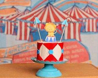 Circus Cake Topper, circus party, circus party decor, circus smash cake topper, smash cake topper
