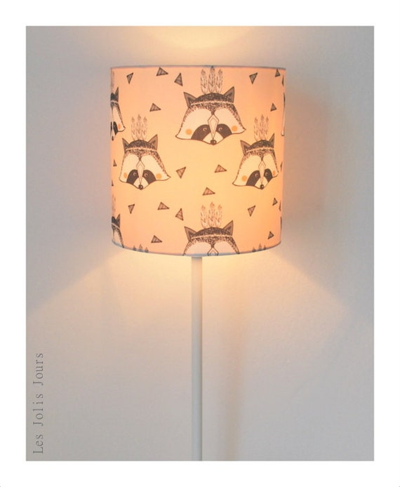 Lamp ROCKY RACCOON pink powder