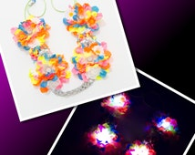 Neon LED Flower Crown, LED Headdress, Rave Wear, Electric Daisy Carnival, TomorrowWorld, TomorrowLand, Beyond Wonderland, Lollapalooza, Ezoo