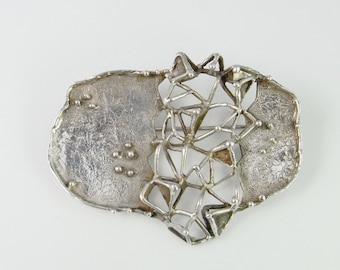 Scandinavian jewelry Geometric Brooch Geometric Jewelry Modernist Jewelry Abstract Minimalist Brooch Minimalist Jewelry Brutalist Jewelry