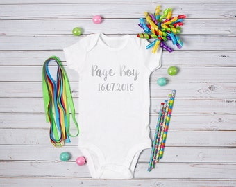 Page Boy - Babygrow, vest, all in one, bodysuit - Wedding Party Gift