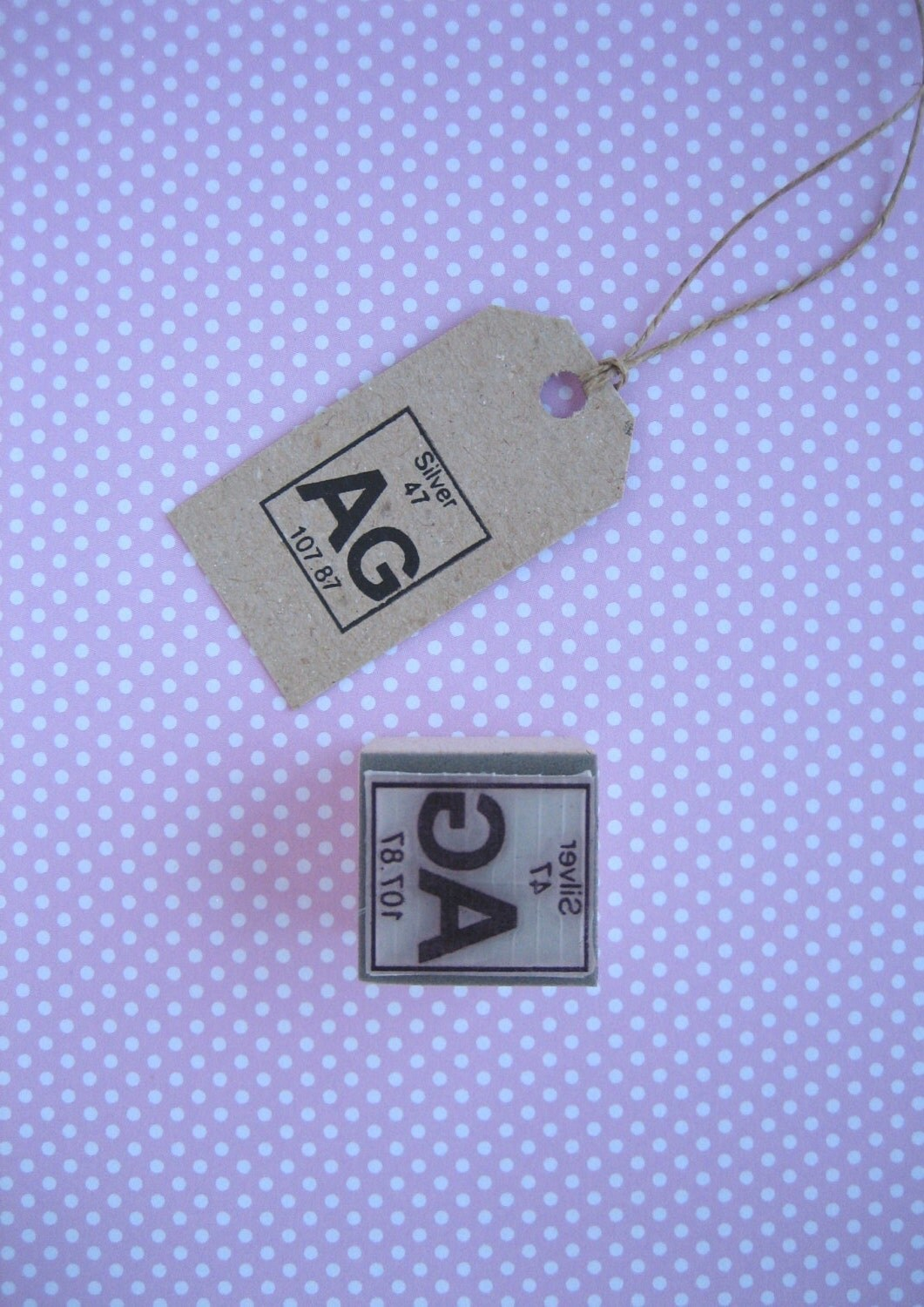 Silver rubber stamp silver stamp periodic table rubber stamp sold by samadhiartshop gamestrikefo Image collections