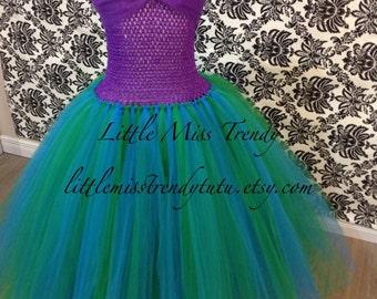 The Little Mermaid Inspired Tutu Dress, Little Mermaid Tutu Dress, Ariel Tutu Dress, Ariel Costume, Ariel Tutu Dress, Mermaid Tutu Dress